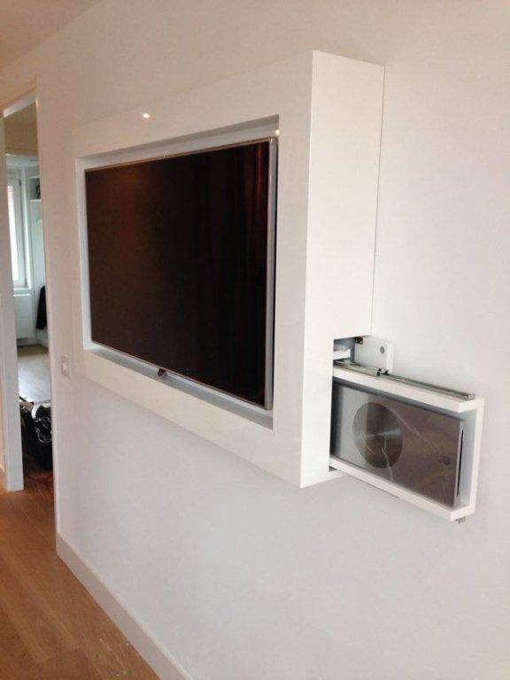 Fonkelnieuw TV-meubel voor slaapkamer met verborgen dvd-spelerZaal Meubelfabriek LS-27